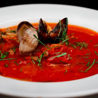 Рыбный суп по-средиземноморски
